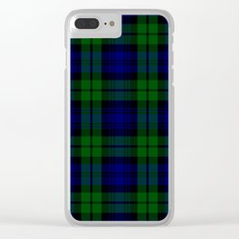 Scottish Campbell Tartan Pattern-Black Watch #1 Clear iPhone Case