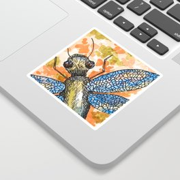 Dragonfly insect art Sticker