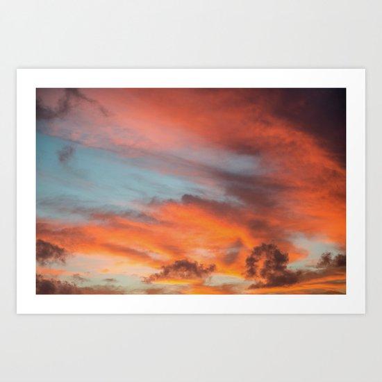 SIMPLY SKY Art Print