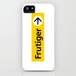Frutiger arrow | W&L007 iPhone Case