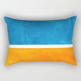 Colorful Jewel Tones Blue Gold Color Block Minimalist Watercolor Art Modern Simple Shapes Rectangular Pillow