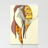 gustav klimt Stationery Cards featuring gustav klimt by Lily Snodgrass