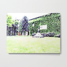 Faenza: garden in front of the ceramic museum Metal Print