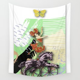 RIDING HORSE Wall Tapestry