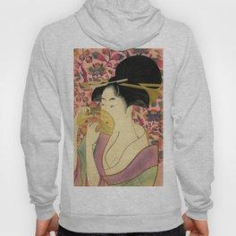 Japanese Art Print - Japanese Woman - Kushi Utamaro Hoody
