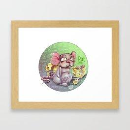 Chines rat horoscope Framed Art Print