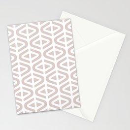 Mid Century Modern Split Triangle Pattern Light Beige Stationery Cards