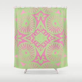 flower power: raspberry & lime Shower Curtain