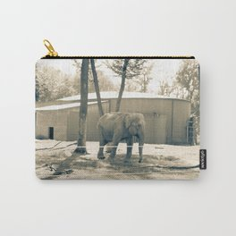 Vintage Retro Elephant Photography Carry-All Pouch