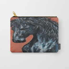 Friesian Horse Original Painting Carry-All Pouch