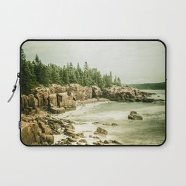 Acadia National Park Maine Rocky Beach Laptop Sleeve