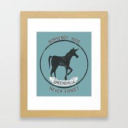 Horsebot 3000 Never Forget - Worn Framed Art Print