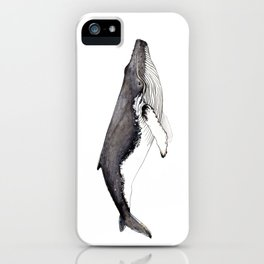 Humpback whale for whale lovers iPhone Case