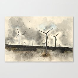 windmills, where's Don Quixote? Canvas Print