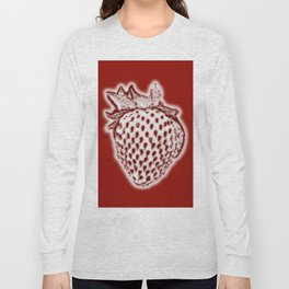 Red Strawberry Long Sleeve T-shirt