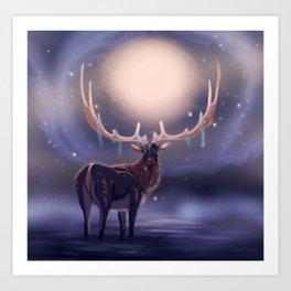Fantasy Deer Art Print