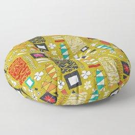 tiki yellow Floor Pillow