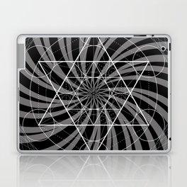 Metatron's Cube Grayscale Spiral of Light Laptop & iPad Skin