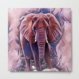 The African Bush Elephant Metal Print