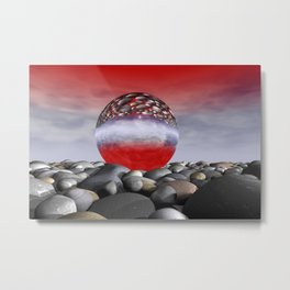 red sky and light refraction Metal Print