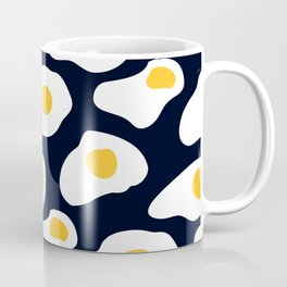 Eggs pattern on black Coffee Mug