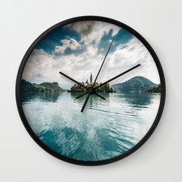 bled lake Wall Clock