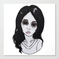 ultraviolence Canvas Prints featuring ULTRAVIOLENCE by Julio César
