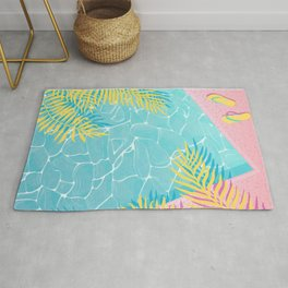 Tropical pool chill Rug