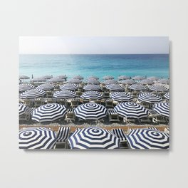 Stripes in the French Riviera Metal Print