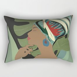 Woman with a Tuban Rectangular Pillow