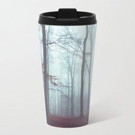 Solstice in Fog - Woodlands in Winter Mist Travel Mug