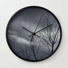 Passing Storm Tree Wall Clock