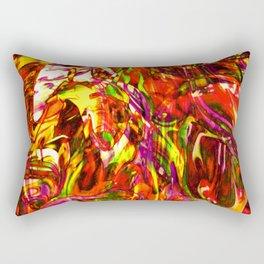 Fluid Painting (Yellow Version) Rectangular Pillow