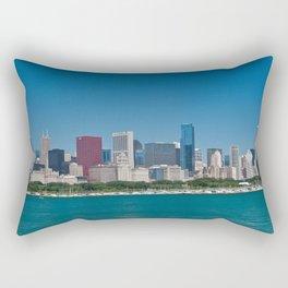 Chicago Skyline Panorama Rectangular Pillow