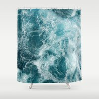 sea Shower Curtains featuring Sea by Vickn