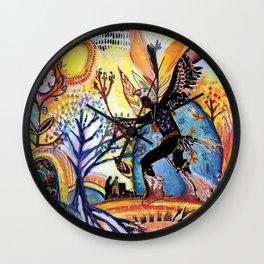 Nature's Shaman Wall Clock