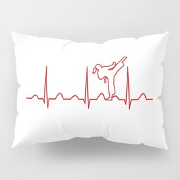 Karate Girl Heartbeat Pillow Sham