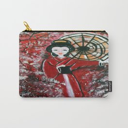 Painted traditional Japanese Geisha Carry-All Pouch