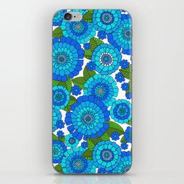 Busy bunch Blues iPhone Skin