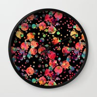 confetti Wall Clocks featuring Confetti by Schatzi Brown