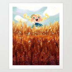 In The Fields Art Print
