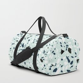'Speckle Party' Navy Mint Black White Dots Speckle Terrazzo Pattern Duffle Bag