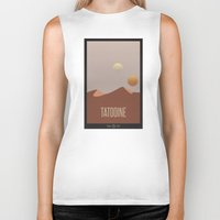 travel poster Biker Tanks featuring Tatooine Travel Poster by Tawd86