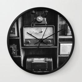 Retro Stand (Black and White) Wall Clock