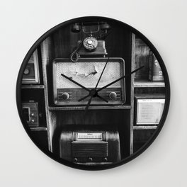 Retro Stand (Black and White) Wall Clock