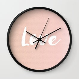 Rose Gold Love Lettering Wall Clock