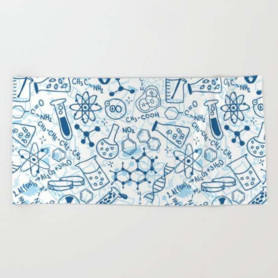 School chemical pattern #2 Beach Towel