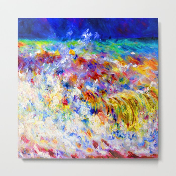 Renoir The Wave Metal Print