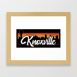 Vintage Knoxville Tennessee Sunset Skyline T-Shirt Framed Art Print