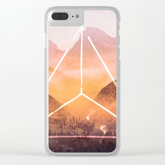 The Elements Geometric Nature Element of Fire Clear iPhone Case